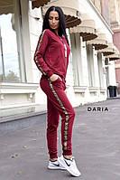 Костюм женский модный кофта на молнии с карабином и штаны с лампасами Dch1730, фото 1