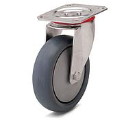 Колесо с поворотным кронштейном с площадкой, диаметр 160 мм, нагрузка 180 кг