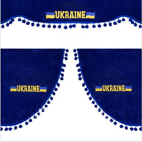 Штора на лобовое + боковые стёкла (UKRAINE)Синии (8788), фото 2