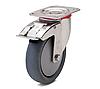 Колесо с поворотным кронштейном с площадкой и тормозом, диаметр 80 мм, нагрузка 80 кг