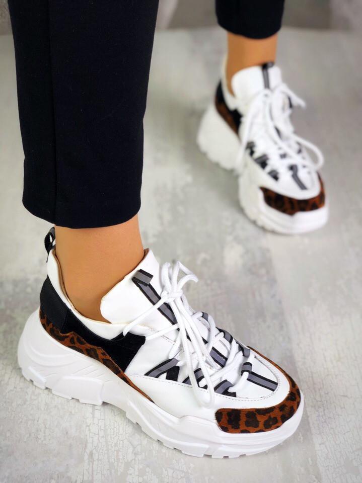 Женские кожаные кроссовки Step