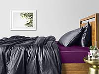 Комплект евро взрослого постельного белья сатин GREY VIOLET-S