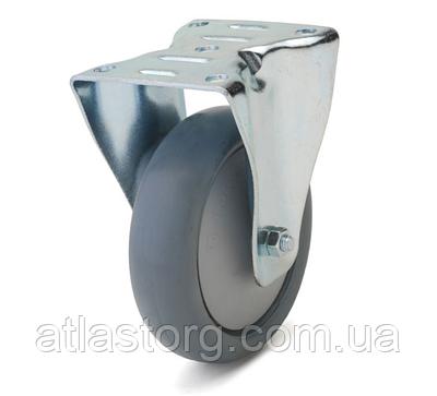 Колесо з неповоротним кронштейном з майданчиком, діаметр 80 мм, навантаження 80 кг