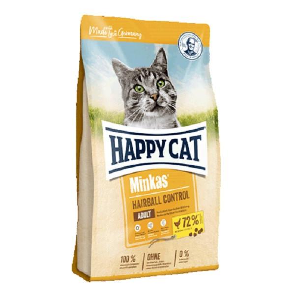 Happy Cat Minkas Hairball Control сухой корм для профилактики волосяных комочков у взрослых кошек, 0.5 кг