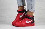 Женские кроссовки Nike Air Force 1 (красные), фото 2