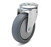Колесо с поворотным кронштейном с отверстием, диаметр 200 мм, нагрузка 220 кг