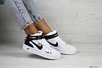 Женские кроссовки Nike Air Force 1 (белые)