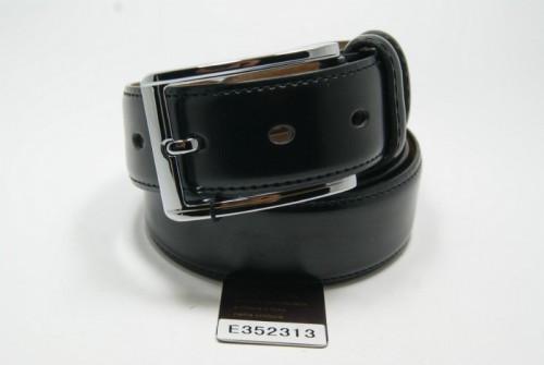 Ремень брючный кожаный классический (черный) ALON