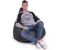 Кресло мешок Груша, ткань Рогожка, размер М серый