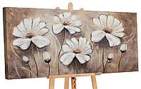 """Картина - 100% ручная работа.  """"Любимые цветы II"""" 120х60см (RR178)"""