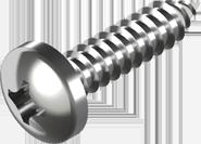 Саморіз з циліндричною зкругленою голівкою DIN 7981, для металу 3,5х38, цб, PH