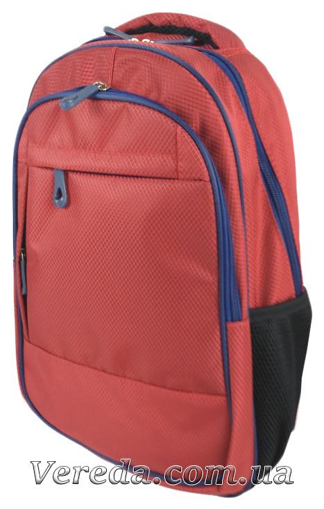 Школьный рюкзак Однотонный, красный