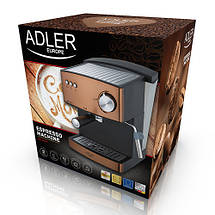 Кофемашина эспрессо Adler AD 4404 cooper 15 Bar, фото 3