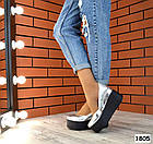 Женские туфли цвета серебро на платформе, натуральная кожа 36 ПОСЛЕДНИЙ РАЗМЕР, фото 2