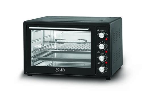Электрическая печь духовка Adler AD 6010 обьем 45л мощность 2000вт, фото 2