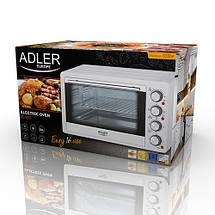 Электрическая печь духовка Adler AD 6001 обьем 35л мощность 1500вт, фото 3