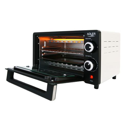 Электрическая печь духовка Adler AD 6003 обьем 9л мощность 1400вт
