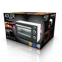 Электрическая печь духовка Adler AD 6003 обьем 9л мощность 1400вт, фото 3