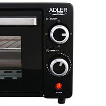 Электрическая печь духовка Adler AD 6003 обьем 9л мощность 1400вт, фото 2