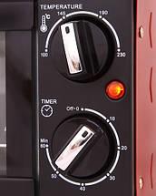 Электрическая печь духовка Camry CR 6015r обьем 14л мощность 1300вт, фото 2