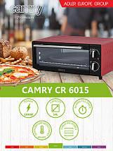 Электрическая печь духовка Camry CR 6015r обьем 14л мощность 1300вт, фото 3