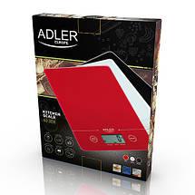 Кухонные весы электронные Adler AD 3138 r, фото 3