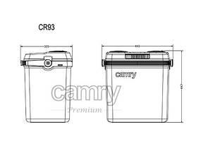 Холодильник туристический, автомобильный Camry CR 93, 32 литра, фото 3