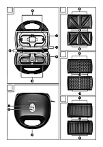 Мультипекарь  Silver Crest SSMW 750вт B2 3в1 бутерброды, вафли, гриль, фото 3