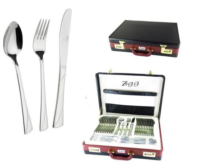Набор столовых приборов ZeGG Z11D42 silver 2,55 мм нерж сталь 72 шт глянцевая полировка