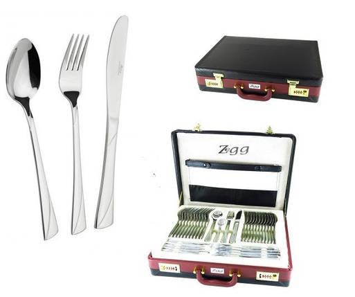Набор столовых приборов ZeGG Z11D42 silver 2,55 мм нерж сталь 72 шт глянцевая полировка, фото 2