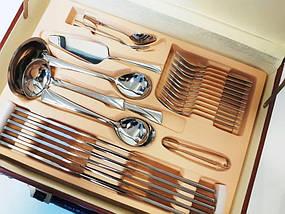 Набор столовых приборов ZeGG Z11D42 silver 2,55 мм нерж сталь 72 шт глянцевая полировка, фото 3
