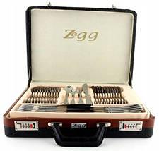 Набор столовых приборов ZeGG TW5150 satyn 2,55 мм нерж сталь 72 шт матовая полировка, фото 3