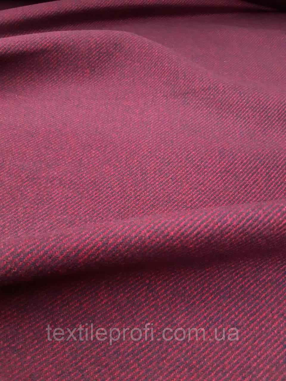 "Пальтовая шерстяная ткань SaRa ""Бордо"", фото 1"