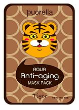 Маска тканинна для обличчя у вигляді тварин - Тигр