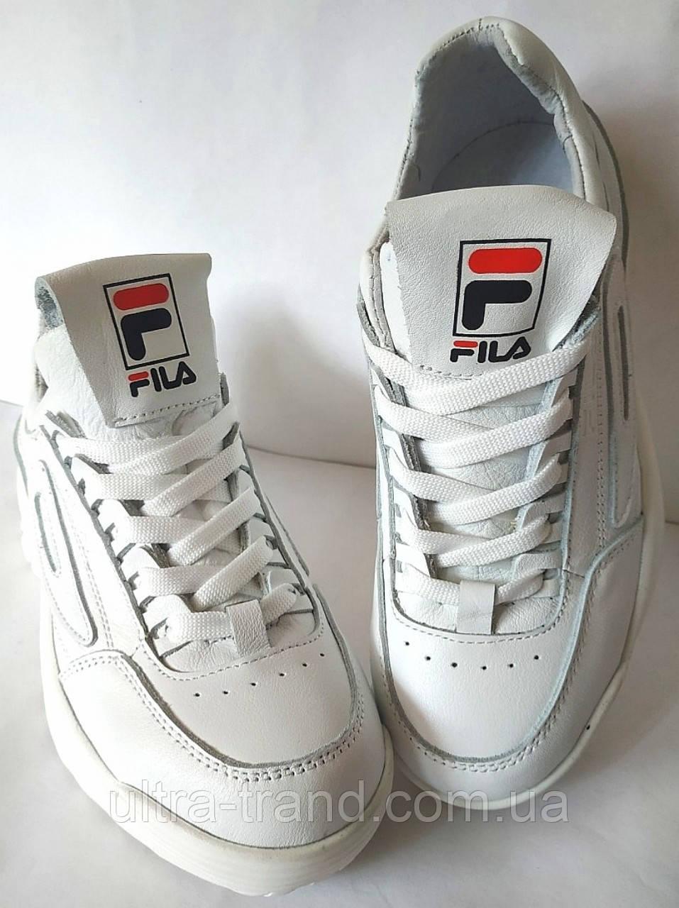 FILA Disruptor! Фила женские кожаные кроссовки белого цвета