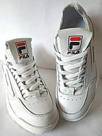 FILA Disruptor! Фила женские кожаные кроссовки белого цвета, фото 1