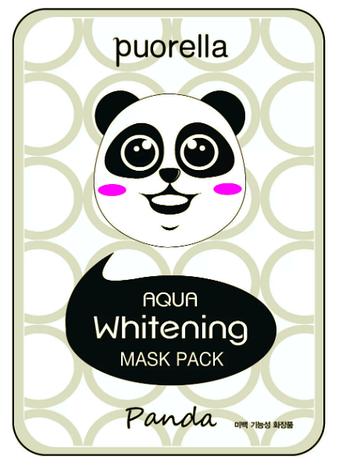 Маска тканинна для обличчя у вигляді тварин - Панда, фото 2