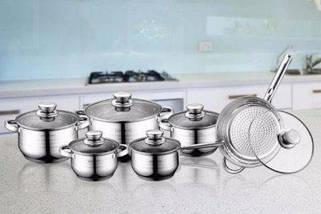 Набор кухонной посуды 12 в 1 Royalty Line RL-1231 4 кастрюли, сотейник, сковорода, фото 3