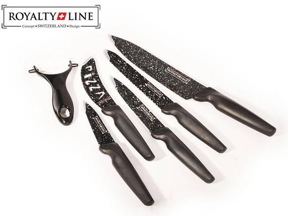 Набор кухонных ножей Royalty Line RL-MB5N с антипригарным покрытием и керамической овощечисткой, фото 2