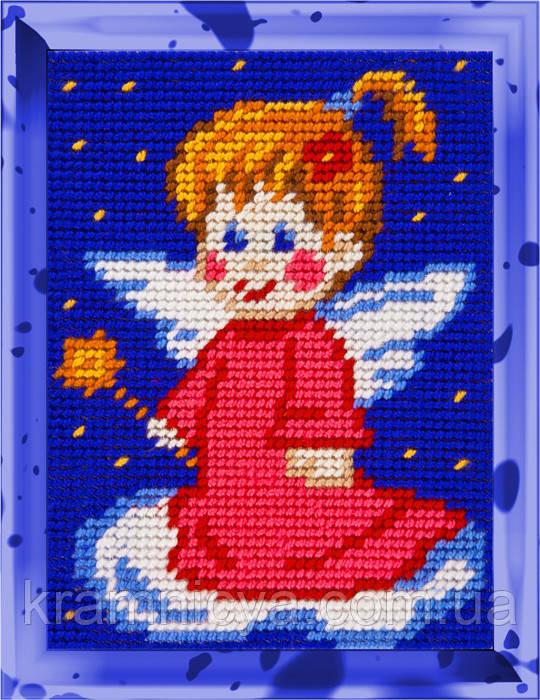 """Набор для вышивания с пряжей """"Ангелочек-1"""" 15х20 см. Bambini арт. 2250"""