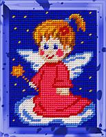 """Набор для вышивания с пряжей """"Ангелочек-1"""" 15х20 см. Bambini арт. 2250, фото 1"""