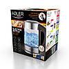 Электрочайник  с контролем температуры Adler AD 1247 NEW 1,7 литр, фото 6