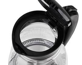 Электрочайник стеклянный Adler AD 1274 black 1,7 литр, фото 2