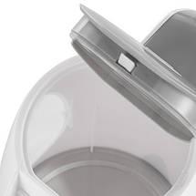 Электрочайник Adler AD 1208 white пластиковый 1,8 литр, фото 2