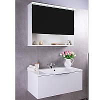 Зеркальный шкафчик  FANCY MARBLE Okinava 800 с диодной подсветкой