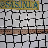 Спортсетка защитная безузловая испанская, D – 3 мм, ячейка –4,5 см, для ограждения спортивных площадок, чёрная