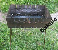 Раскладной мангал чемодан на 8 шампуров 2мм, фото 1