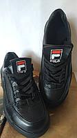 FILA Disruptor! Фила женские кожаные кроссовки черного цвета, фото 1