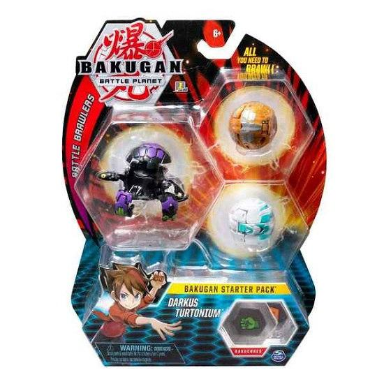 Bakugan.Battle planet: набор 3 бакугана Даркус Тертониум (Darkus Turtonium)