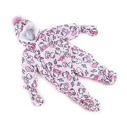 Детские зимние комбинезоны для новорожденных  74-86  принт